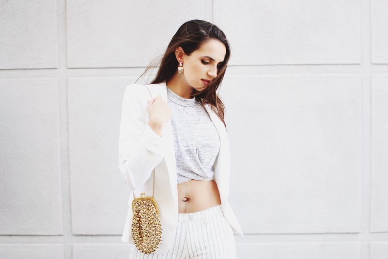 White and Gold Outfit for Spring into Summer