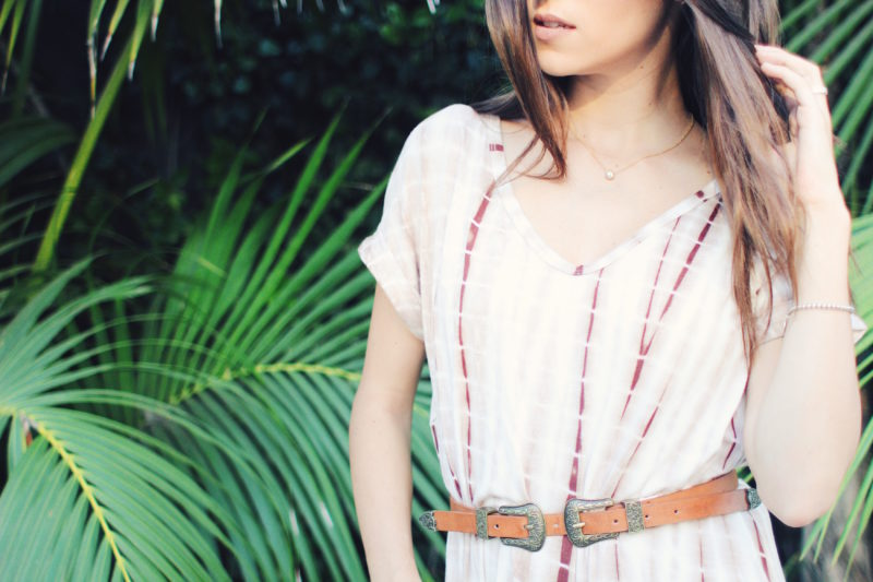 Outfit Inspiration: Tropical Tie Dye Maxi Dress - thecasualfree.com