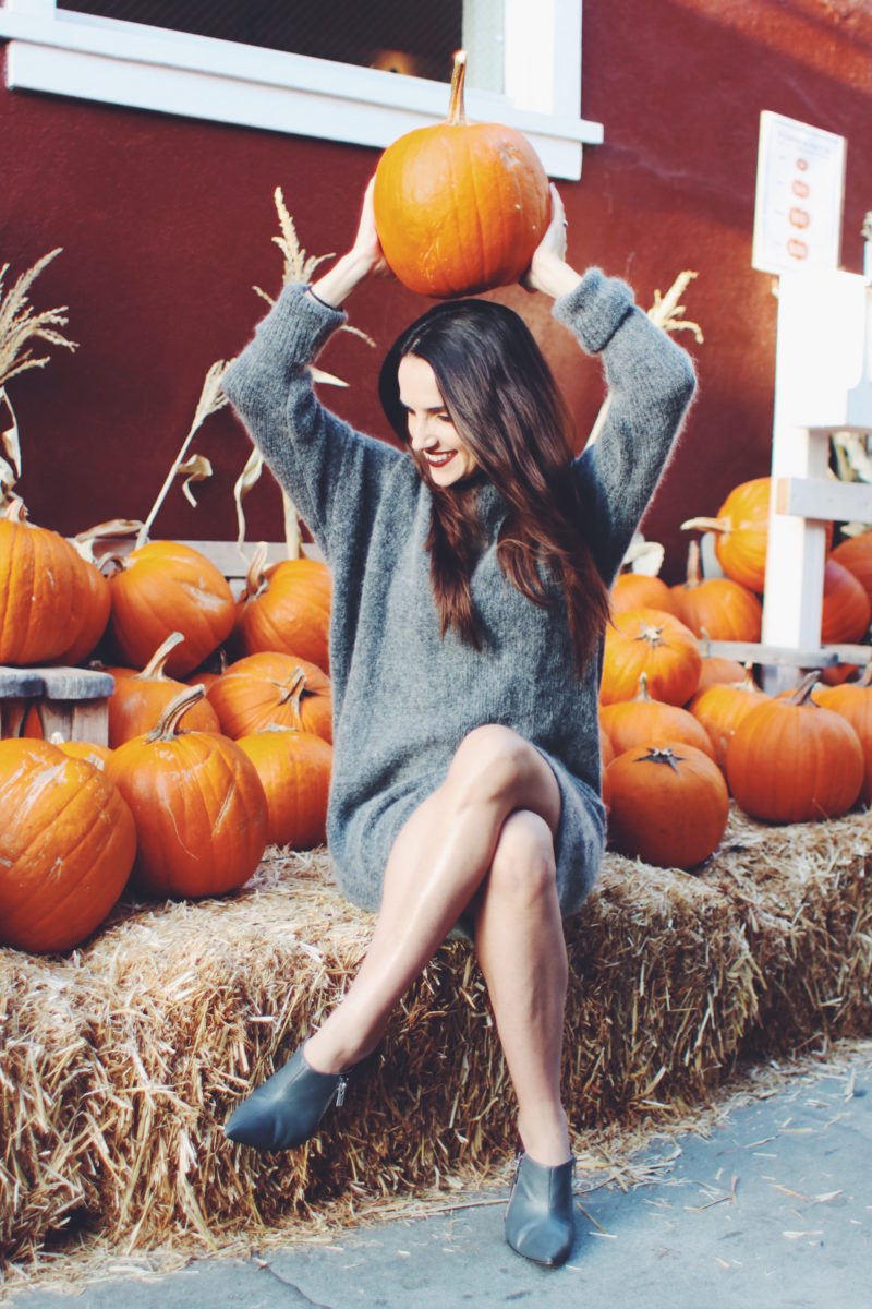 Fall Sweater Dress - Cute Outfit for Fall by Ana Free