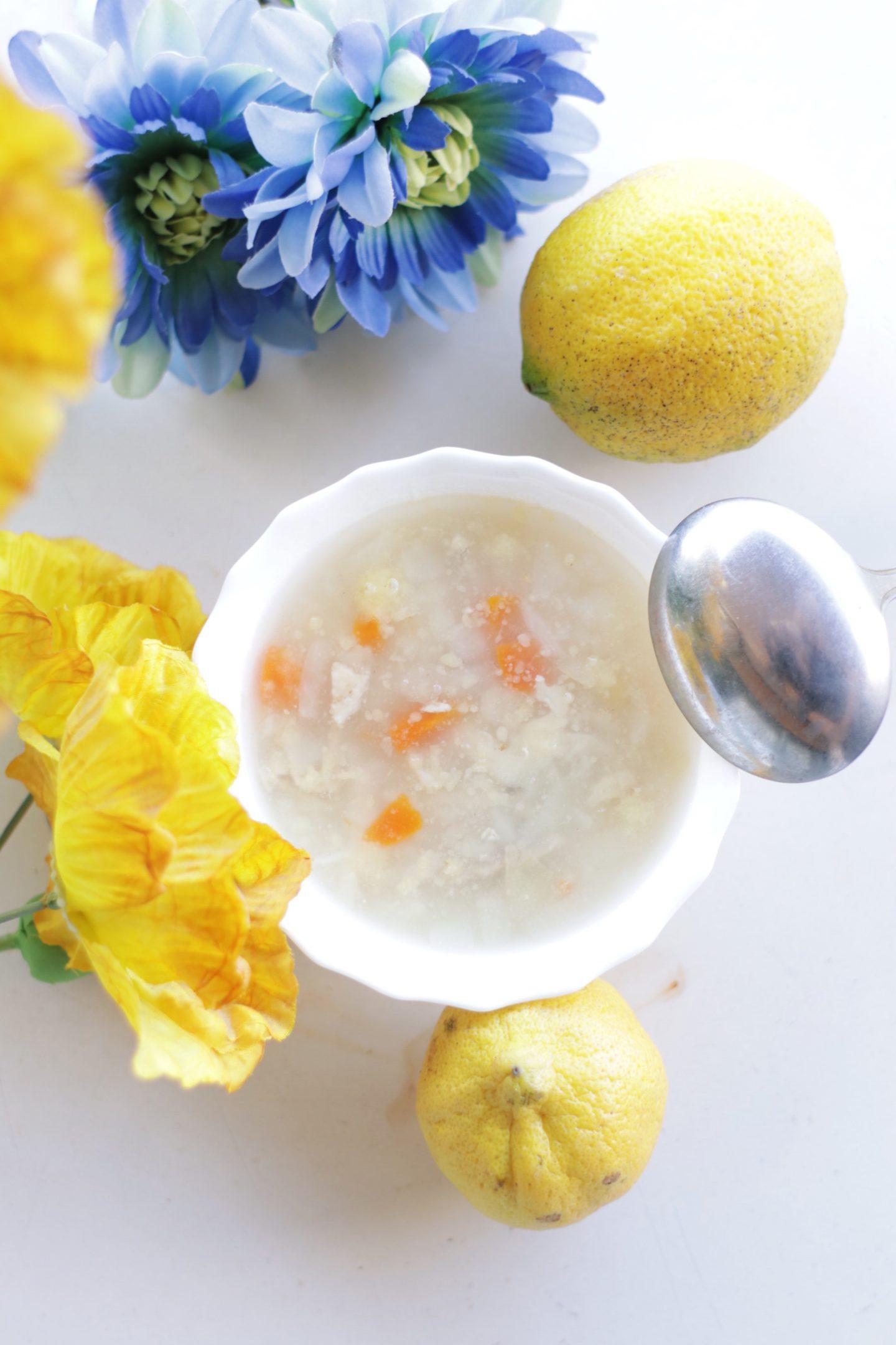 Homemade Chicken Soup Portuguese Recipe – Canja de Galinha – thecasualfree.com