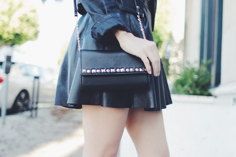 Favorite Valentine's Day Outfits! Faux Leather and Clutch Outfit for Valentine's Day! - thecasualfree.com