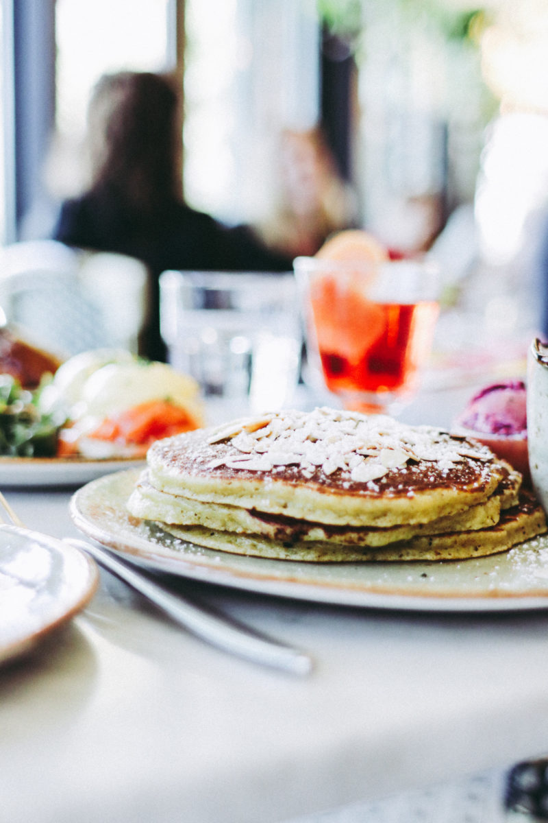 Lemon Ricotta Pancakes at the Delicious brunch at FIG Restaurant in Santa Monica, CA inside the Fairmont Miramar Hotel - Review by thecasualfree.com