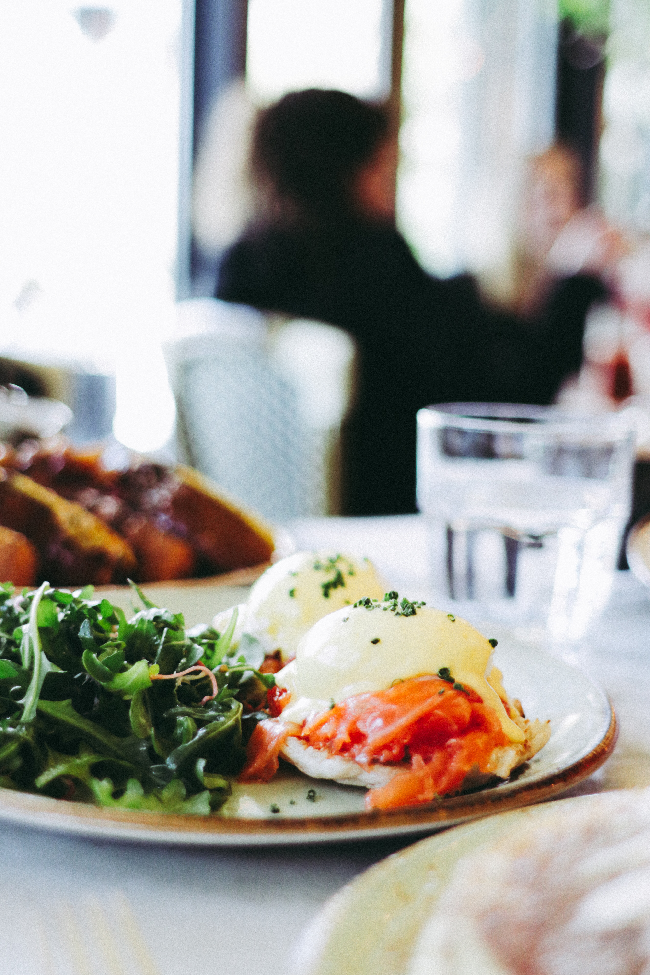 Smoked Salmon Eggs Benedict at FIG Restaurant Brunch