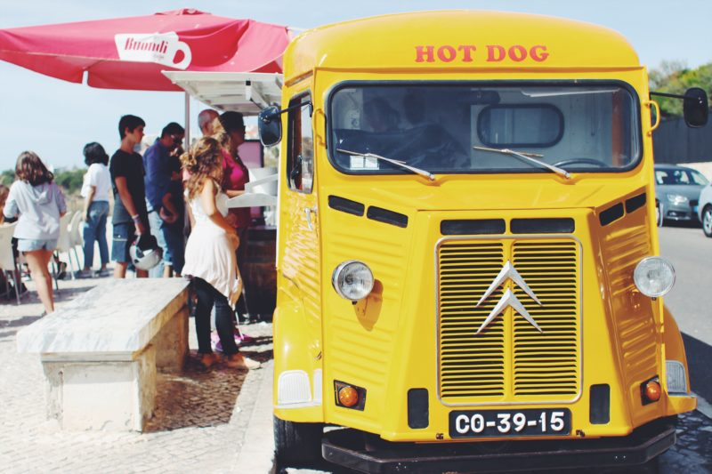 Where To Eat in Cascais, Portugal - Hot Dogs at Hot Dogs Cascais food truck - by thecasualfree.com