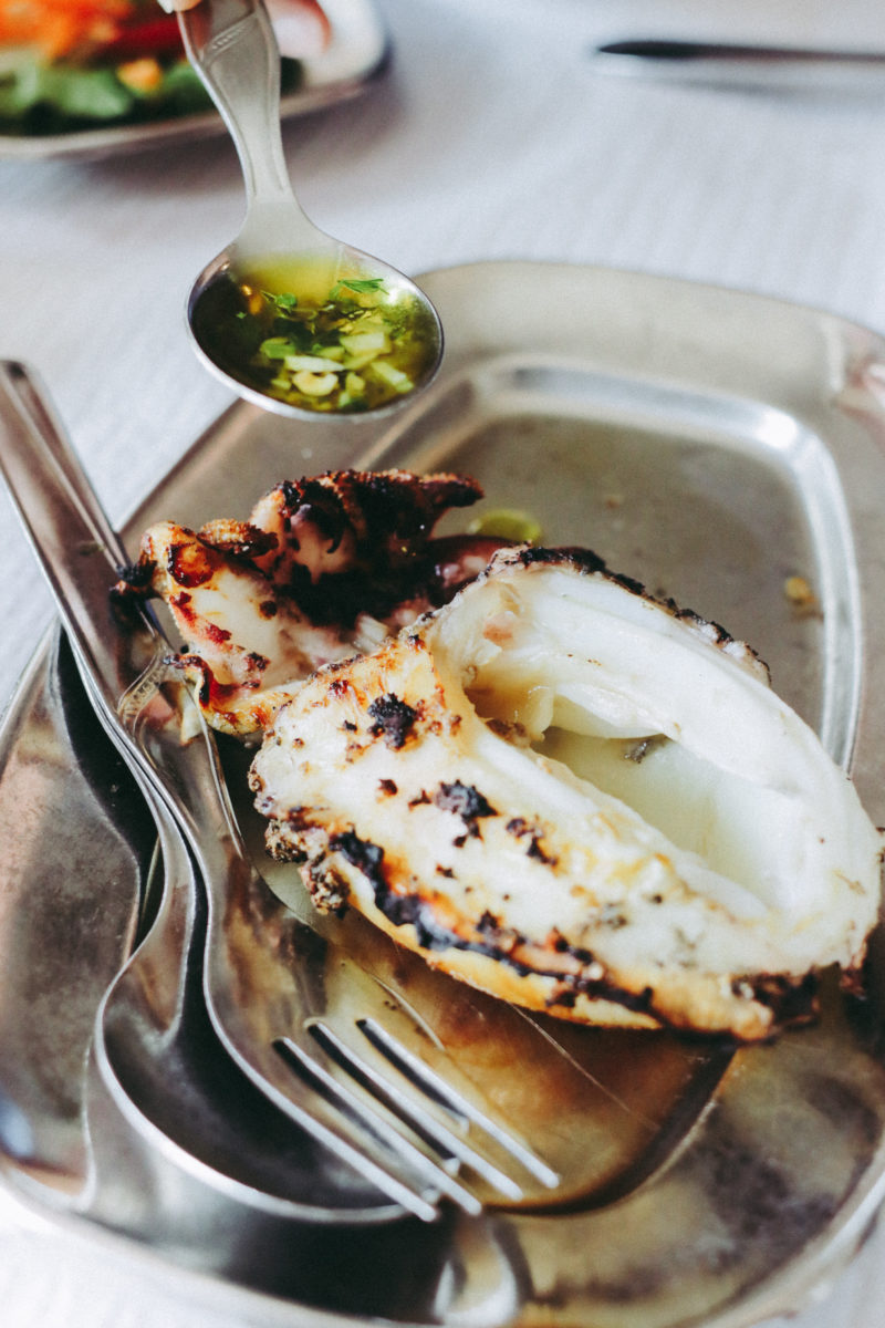 Where To Eat in Cascais, Portugal - Grilled Cuttlefish at O Carloto tasca - by thecasualfree.com