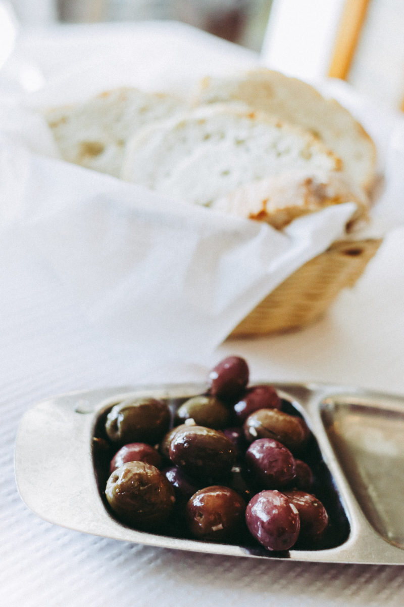 Where To Eat in Cascais, Portugal - Olives and Bread at O Carloto tasca - by thecasualfree.com