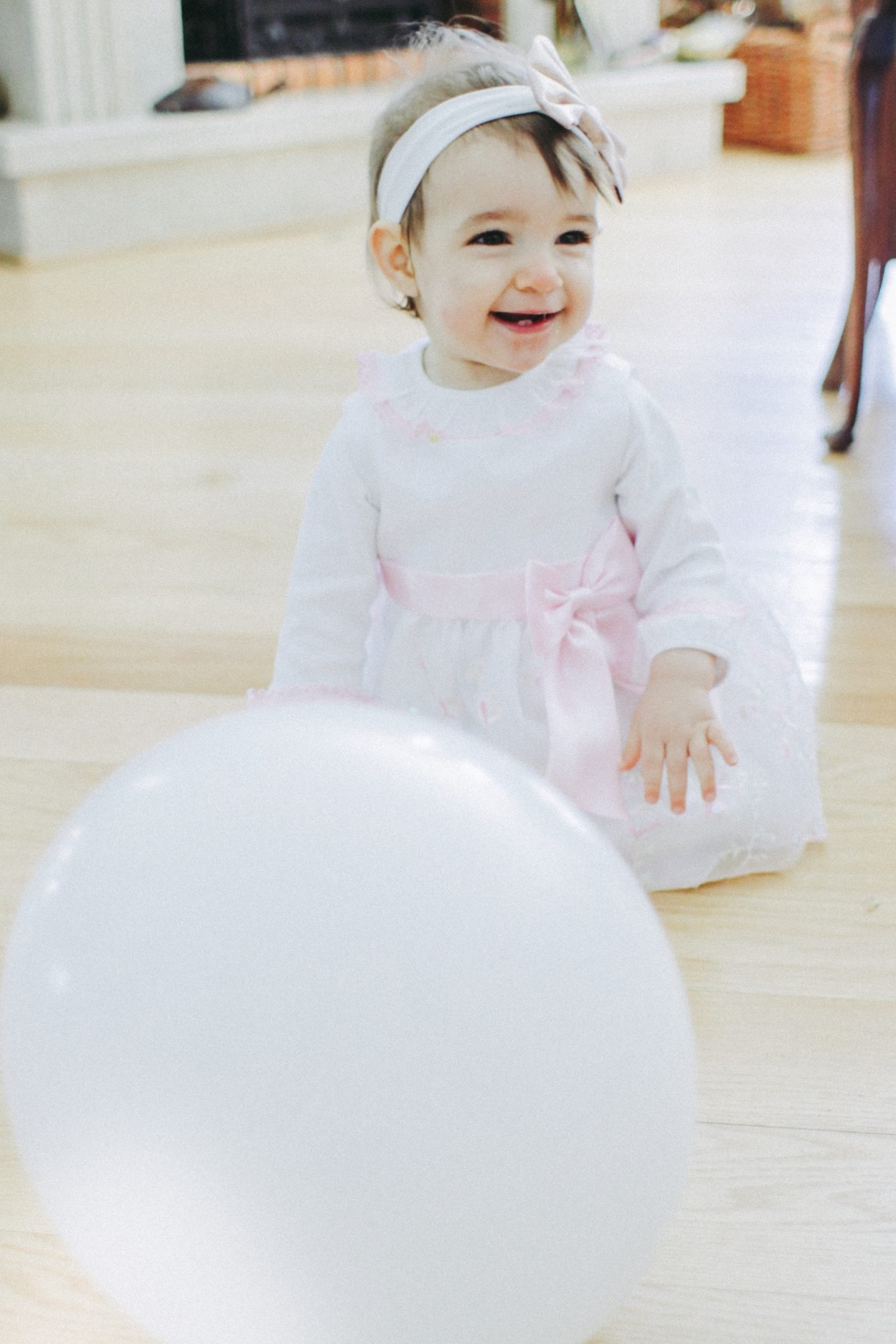 Zoe's First Birthday Party, themed pink, gold and white! - thecasualfree.com