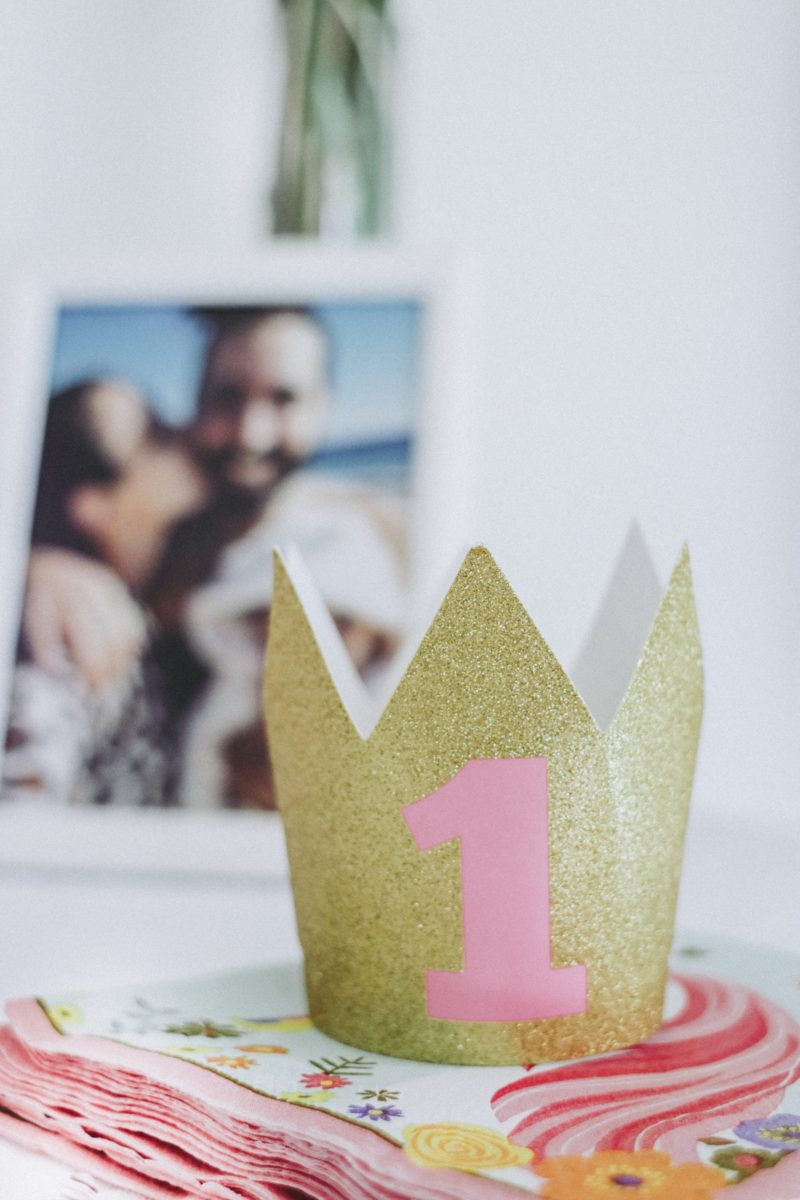 Zoe's First Birthday Party, themed pink, gold and white! Party decorations!- thecasualfree.com