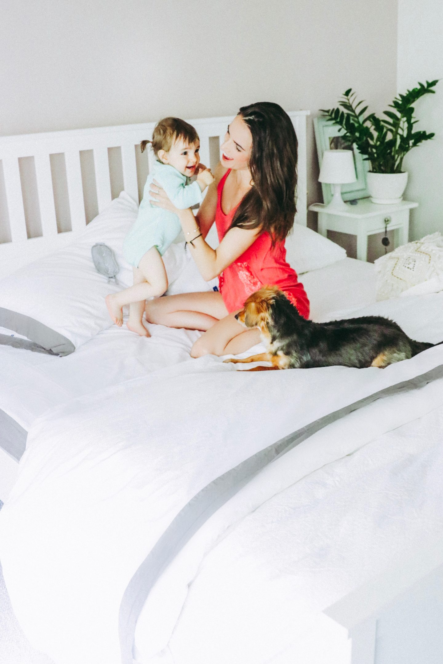 The Casual Free: 4 Ways To Get More Sleep With Kids - Family with Baby and Dog - thecasualfree.com