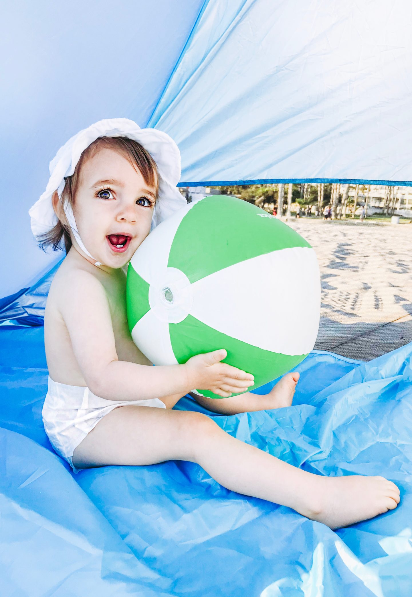 Beach Essentials For Toddler - Babyganics Beach ball - thecasualfree.com