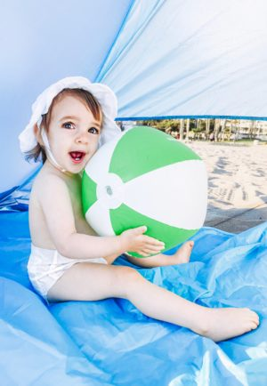 Beach Essentials For A Toddler - Babyganics Beach ball - thecasualfree.com