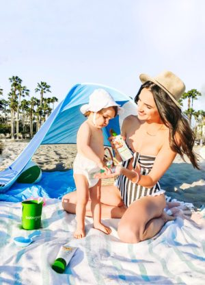 Beach Essentials For A Toddler - Babyganics Mama and Baby Sunscreen - thecasualfree.com