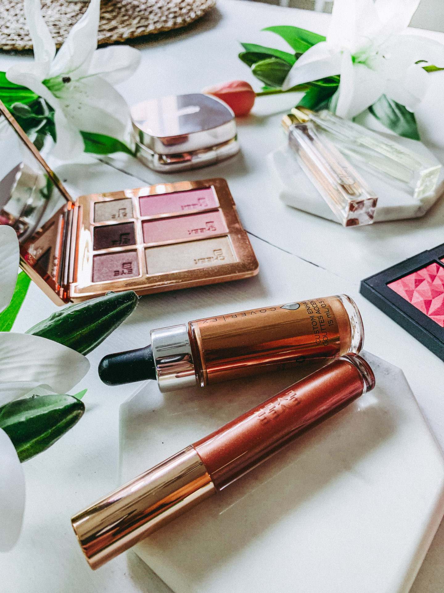 Latest Beauty Favorites - Ever 24K Rose and Cover FX Rose Gold - thecasualfree.com
