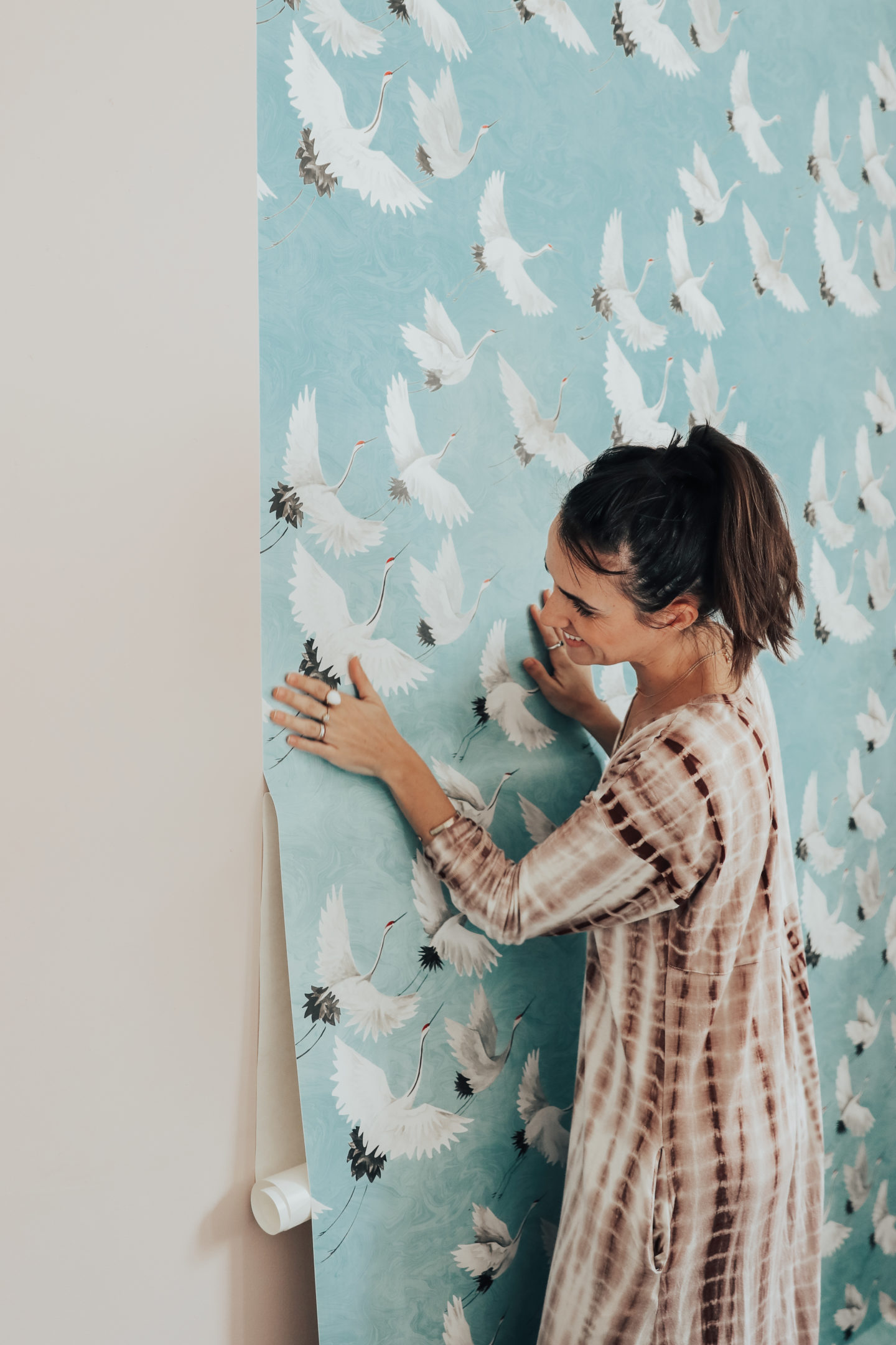 Redecorating With Wallpops! Halcyon Peel and Stick NuWallpaper - thecasualfree.com