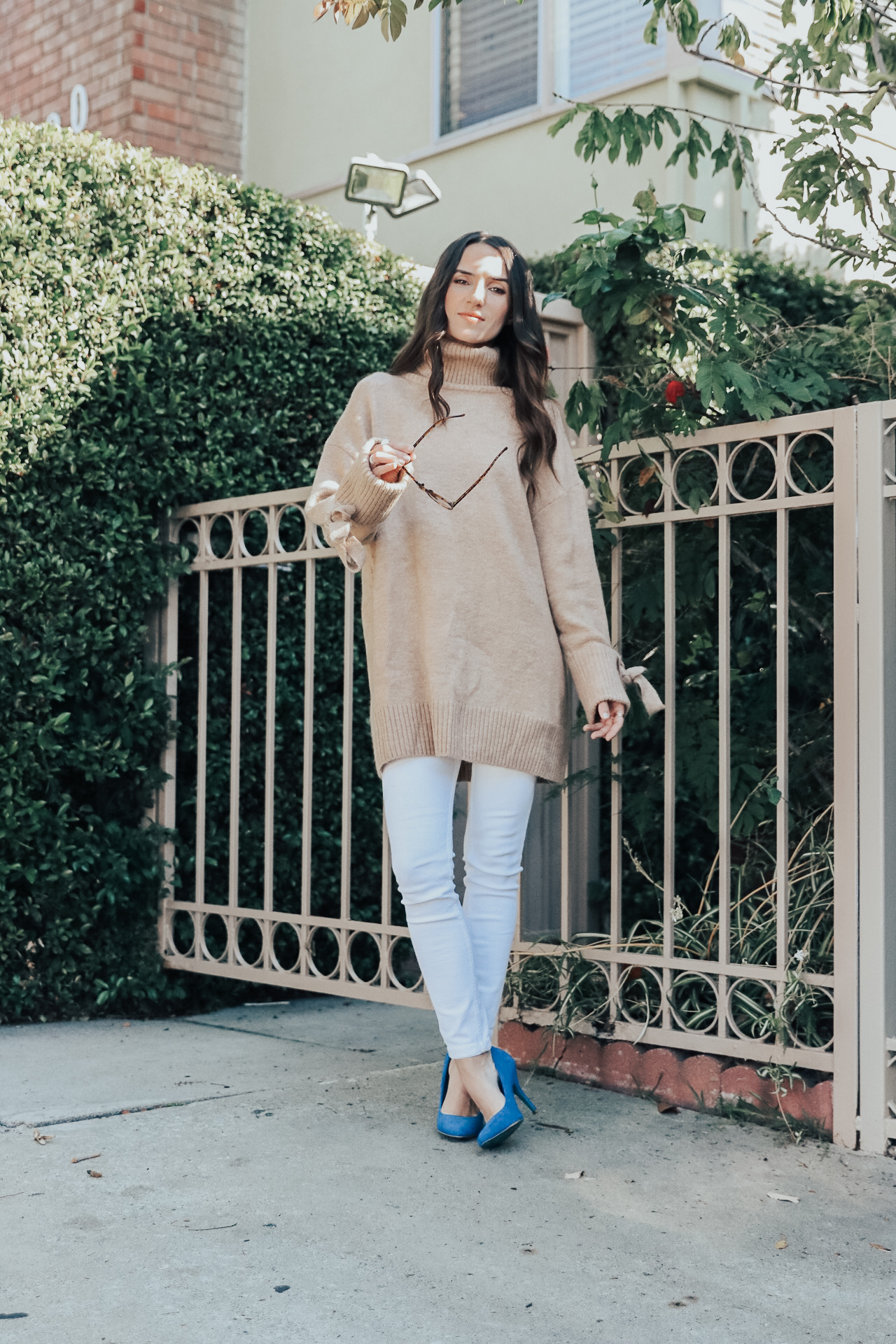 4 Sweater Weather Ideas - Zara Oversized Sweater with Bow Detail - thecasualfree.com