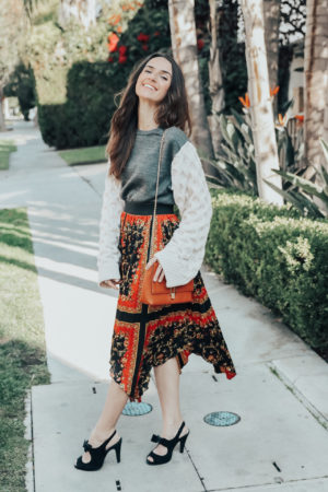 4 Sweater Weather Outfit Ideas - Zara Knit Sleeves and Sweatshirt Crop Sweater - thecasualfree.com