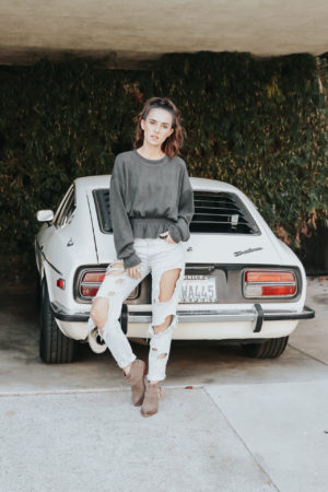 4 Sweater Weather Outfit Ideas - Zara Ruffle Top - thecasualfree.com