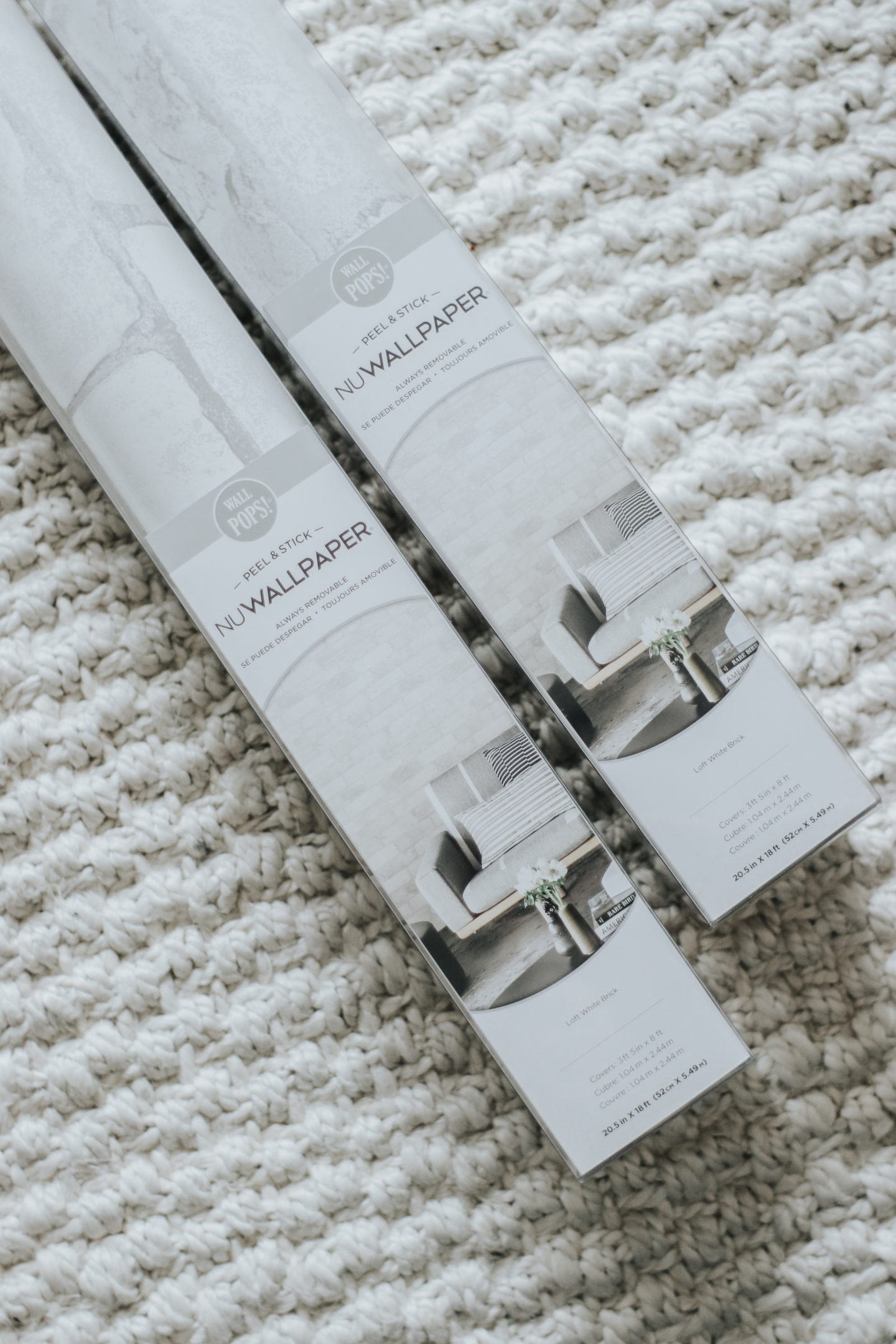 Redecorating With Wallpops! Loft White Brick Peel and Stick NuWallpaper - thecasualfree.com