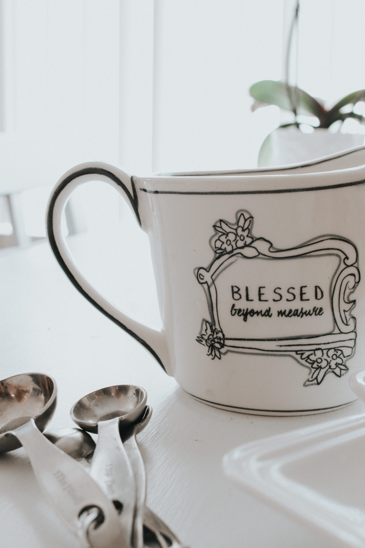 Spring Decor Inspiration: Farmhouse Accents - Stage Stores Home Decor Measuring Cup - thecasualfree.com