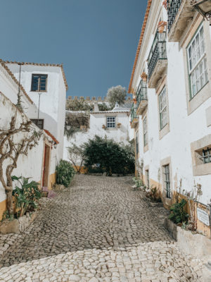A Day In Óbidos, Portugal - Cobble Stone Streets - thecasualfree.com