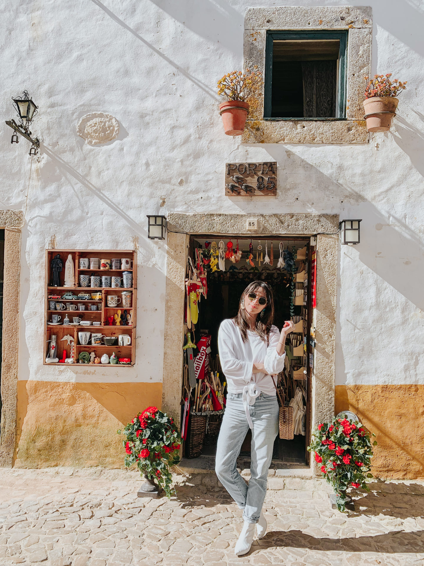 A Day In Óbidos Portugal - Ana Free Gift Shop - thecasualfree.com