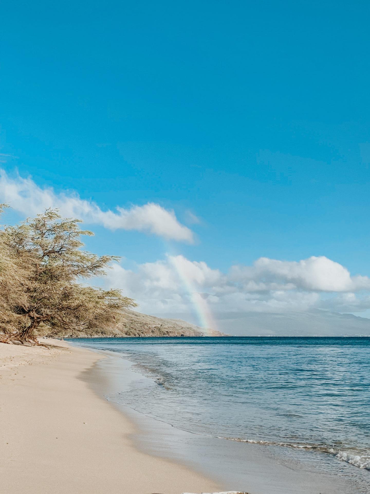 Travel Diary: Maui, Hawaii - Olowalu Beach Rainbow - www.thecasualfree.com