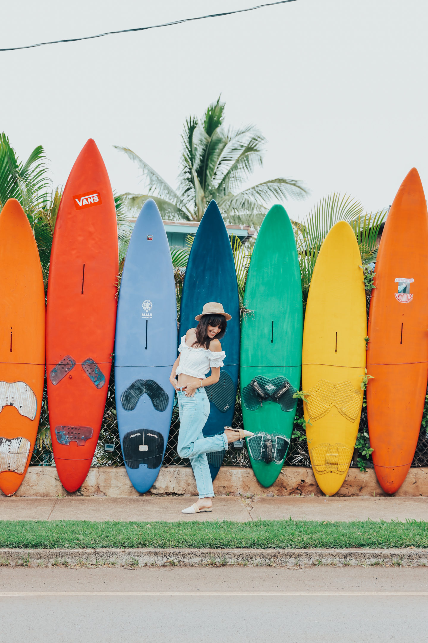 Travel Diary: Maui, Hawaii - Paia Surfboards Wall - www.thecasualfree.com