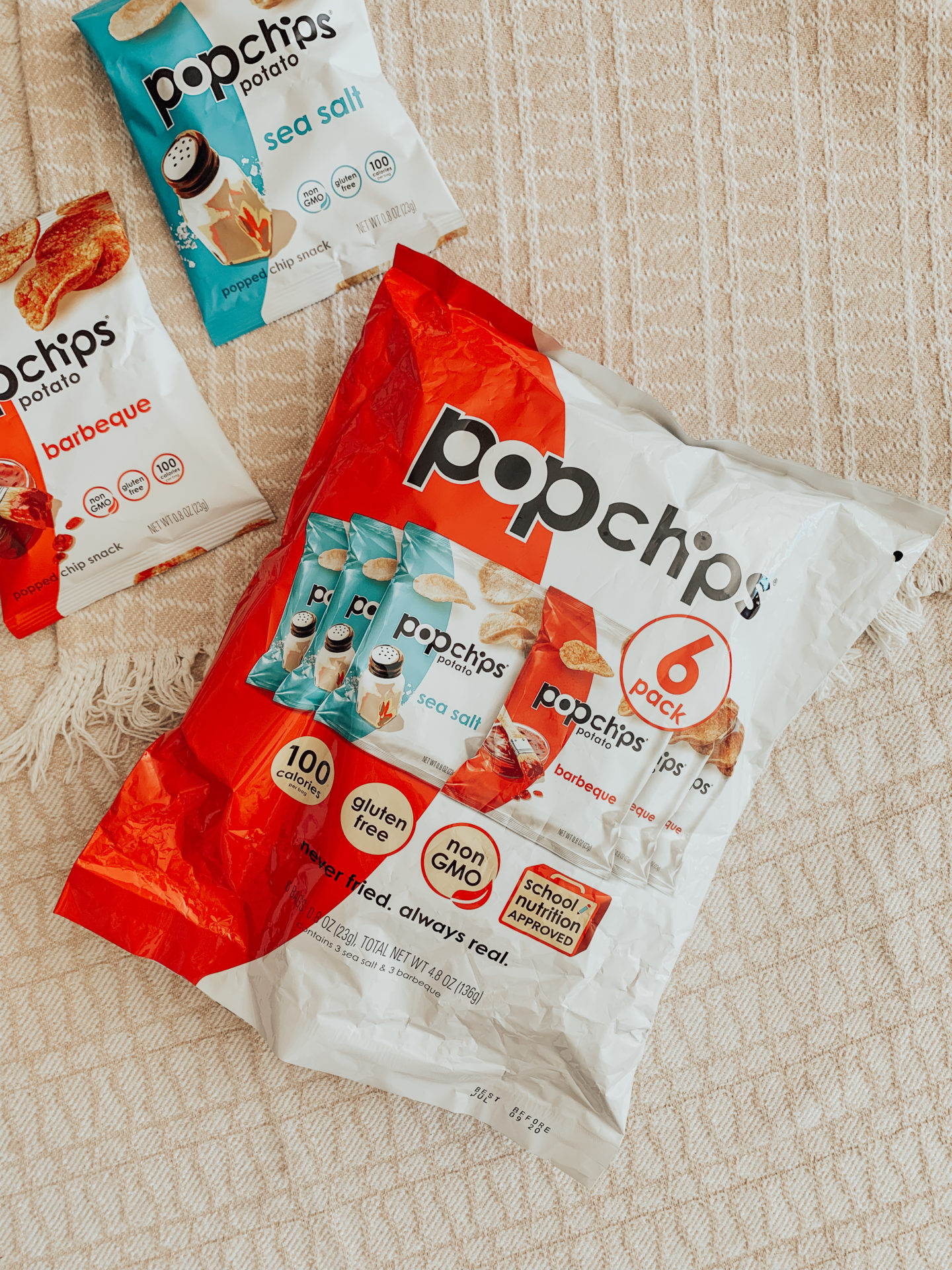 Babbleboxx Popchips Back To School Snacks - 6 ct Variety Pack - thecasualfree.com