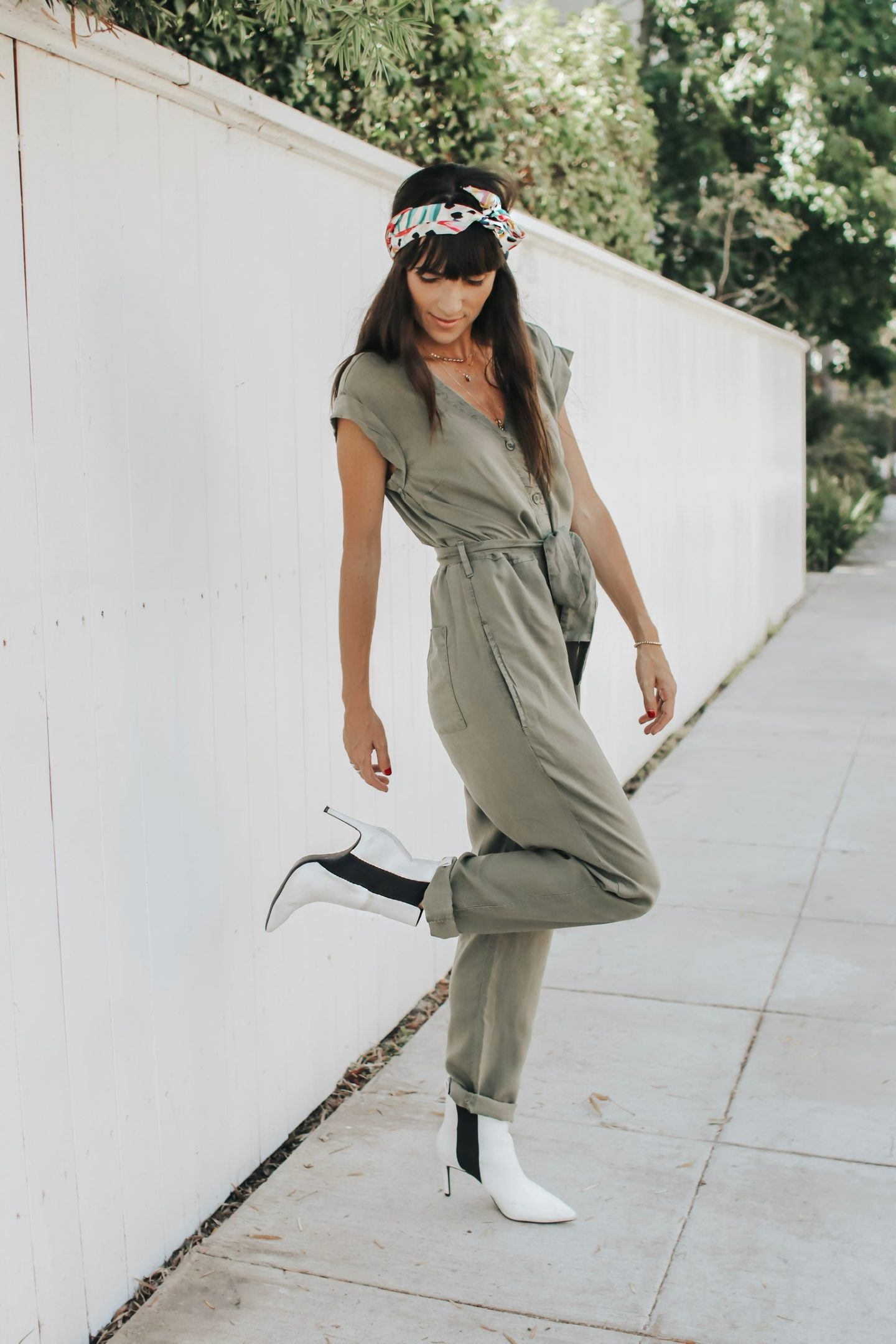 The Perfect Fall Transition Piece - Bella Dahl Cap Sleeve Jumpsuit in Green - thecasualfree.com